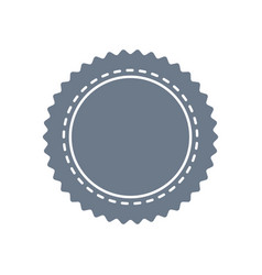 circle seal stamp on white background vector image