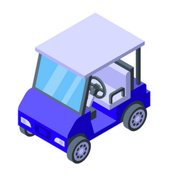 Club golf cart icon isometric style vector