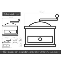 Coffee grinder line icon vector