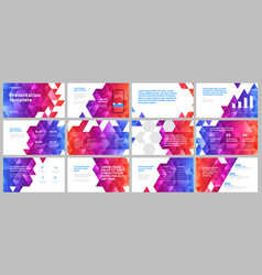 colorful presentation templates elements vector image
