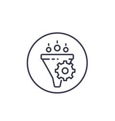 Conversion rate optimization line icon vector