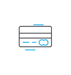 credit card thin line stroke icon credit vector image