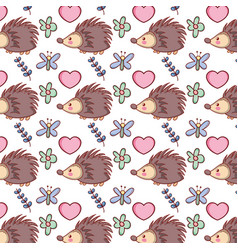 cute animals background pattern vector image