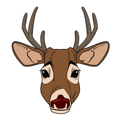 cute reindeer cartoon vector image