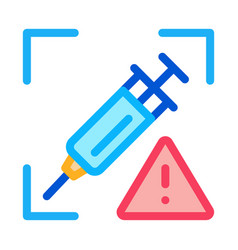 Detection injection problems icon vector