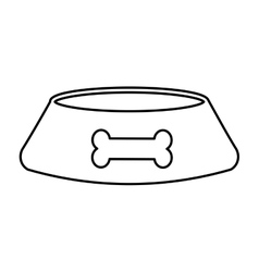Dog dish isolated icon vector