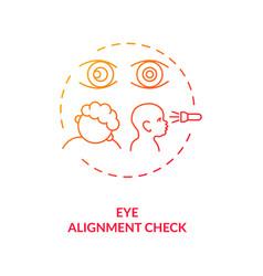 Eye alignment check concept icon vector