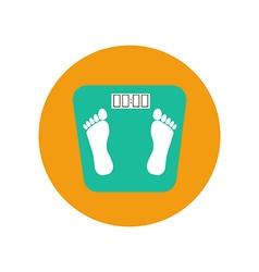 Floor scales icon vector