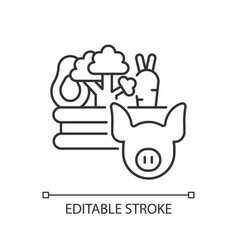 Food and agriculture linear icon vector