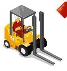 Forklift vector
