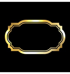 Gold frame Beautiful simple vector