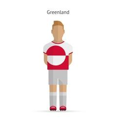 Greenland football player Soccer uniform vector