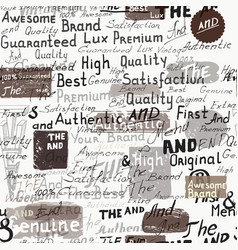grunge stylish wallpaper pattern hand writting vector image