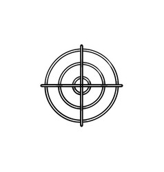 gun target hand drawn outline doodle icon vector image