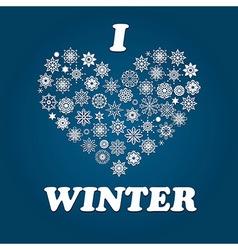 I Love Winter vector