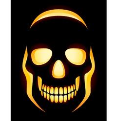 Jack o Lantern skull vector image