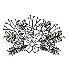 Leafs plant decorative icon vector
