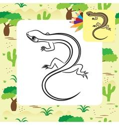 Lizard coloring page vector