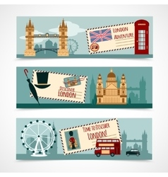 London Touristic Banner Set vector