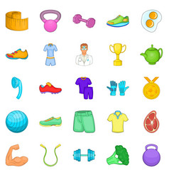 Medical inspection icons set cartoon style vector