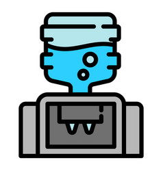 modern water cooler icon outline style vector image