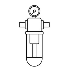 monometer water filter icon outline style vector image