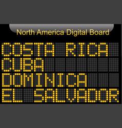 north america country digital board information vector image