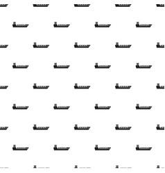 Oil tanker ship pattern vector