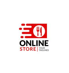 online food store vector image
