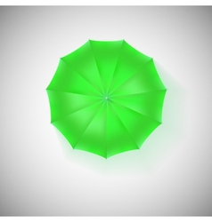 Opened green umbrella top view closeup vector image