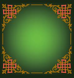 ornamental blank border vector image