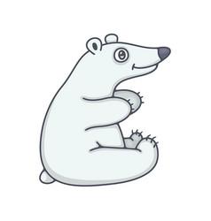polar bear baby vector image