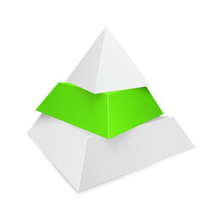 pyramid icon for business concept background vector image