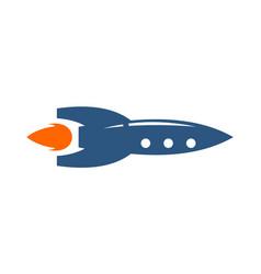 rocket logo icon design vector image