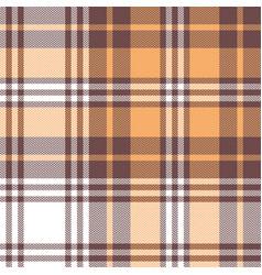 Seamless check plaid pattern orange taupe white vector