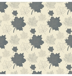 Seamless pattern with grey leafabstract leafleaf vector