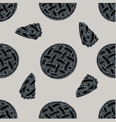 Seamless pattern with hand drawn stylized apple vector