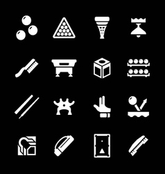Set icons of billiards snooker and pool vector image