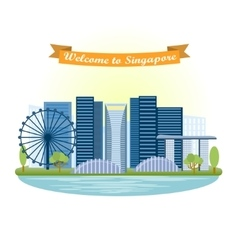 Singapore Landmark Attraction vector image