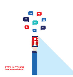 social network communication successful business vector image