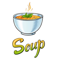 soup lettering and vector image