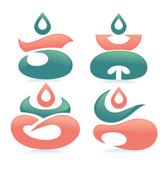 Spa and meditation vector