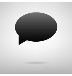 Speech bubble black icon vector image
