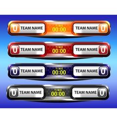 Sport scoreboard template design vector