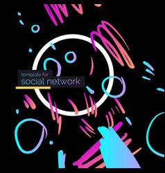 template for social network modern poster vector image