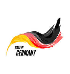 The flag germany with inscription is made vector