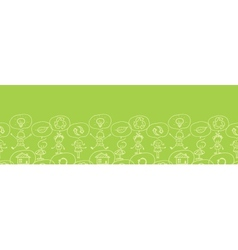 Think about earth horizontal seamless pattern vector image