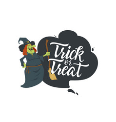 Trick or treat - modern colorful poster vector