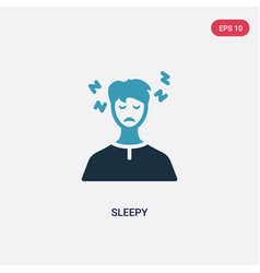 Two color sleepy icon from other concept isolated vector