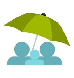 Umbrella icon flat style vector